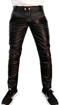 Bockle® Bockle 1991 Elegant Chino men leather pants in chino style, Size: W32/L34