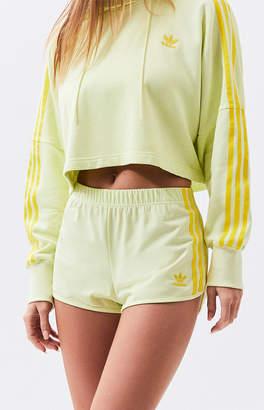 adidas Yellow 3-Stripes Shorts