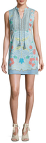 Plenty by Tracy Reese Cotton Printed Lace Inset Shift Dress