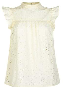 Dorothy Perkins Womens Lemon Broderie Top