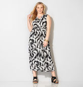 Avenue Brushstroke Knot Front Maxi Dress