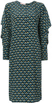 Marni Portrait print shift dress - women - Silk - 38