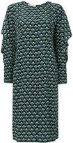 Marni Portrait print shift dress - women - Silk - 42