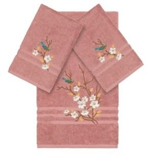Linum Home Turkish Cotton Springtime 3-Pc. Embellished Towel Set Bedding