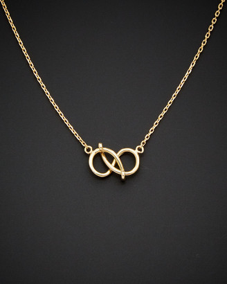 Italian Gold 14K Infinity Love Knot Adjustable Length Necklace
