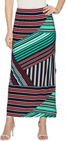 Susan Graver Printed Liquid Knit Maxi Skirt w/ Slit - Petite