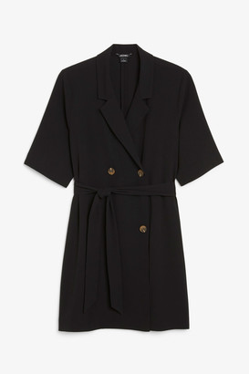 Monki Double breasted tie-waist dress