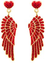 Butler & Wilson Butler and Wilson Red Crystal Wing and Heart Earrings