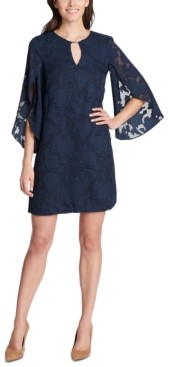 Kensie Floral-Burnout Shift Dress