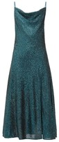Jonathan Simkhai Cowl-neck Sequinned Midi Dress - Womens - Dark Green