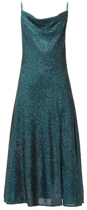 Jonathan Simkhai Cowl-neck Sequinned Midi Dress - Dark Green