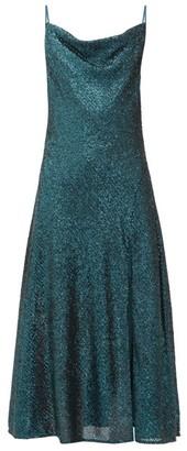 Jonathan Simkhai Cowl-neck Sequinned Midi Dress - Womens - Dark Green