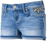 Hydraulic Juniors' Jeweled Floral Shortie Shorts