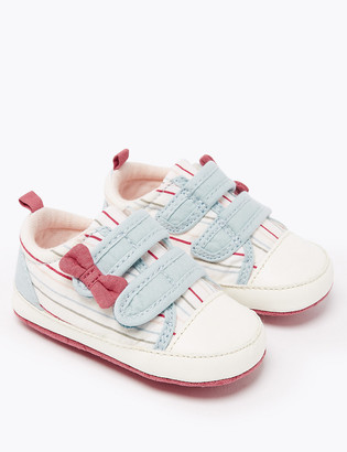 Marks and Spencer Baby Riptape Striped Trainers (0-18 Months)