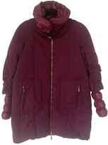 Moncler Long Red Polyester Coats