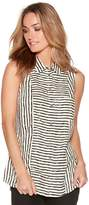 M&Co Sleeveless striped shirt
