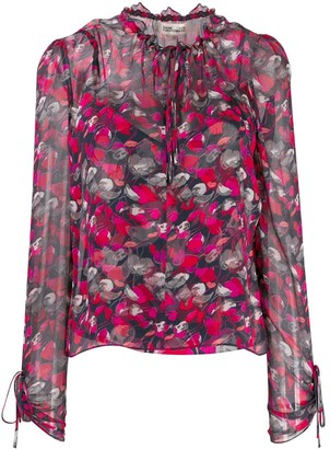 Dvf Diane Von Furstenberg Lilian floral print blouse