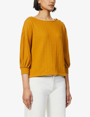Sessun Long-sleeved stretch-cotton top