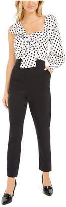 Bar III Becca Tilley x One-Shoulder Twist-Front Jumpsuit