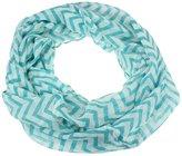 Tonsee Women Infinity Chevron Zig Zag Color Block Double Loop Scarf Wrap