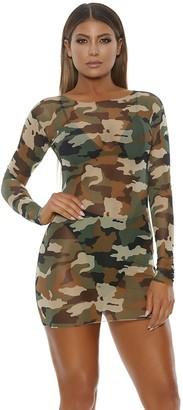 Forplay Women's Mesh Mini Dress