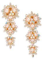 ABS by Allen Schwartz Faux Pearl Linear Drop Earrings
