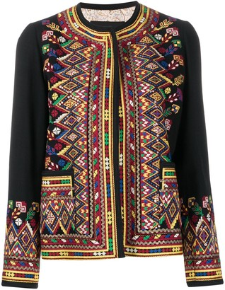 Etro Embroidered Open Front Cardigan