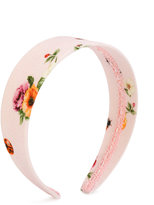 Dolce & Gabbana floral print headband - kids - Cotton/plastic - One Size