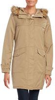 Ellen Tracy Techno Faux Fur Hooded Parka Jacket