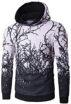 JJCat Men's Long Sleeve Hooded 3D Printed Cool Casual Cotton Pullover Hoodies(XS(TAG:M),)