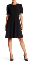 Eliza J Jewel Trim Seamed Dress