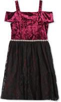 Speechless Velvet and Lace Dress, Big Girls