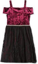 Speechless Velvet & Lace Dress, Big Girls