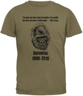 Old Glory Harambe Dignity Avoid People Mens T Shirt MD