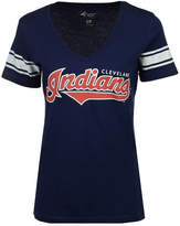 G-iii Sports Women's Cleveland Indians First Pick Sleeve Stripe T-Shirt