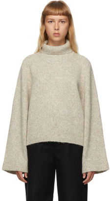 Totême Grey Marled Wool Ravenna Turtleneck