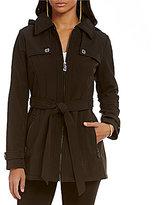 MICHAEL Michael Kors Soft Shell Hooded Trench Coat