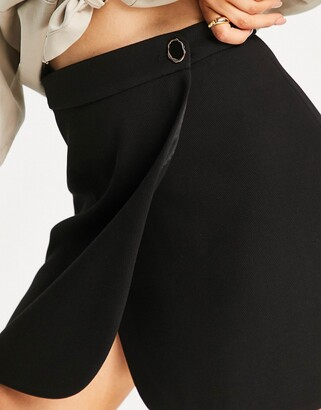 And other stories & recycled mini skirt in black
