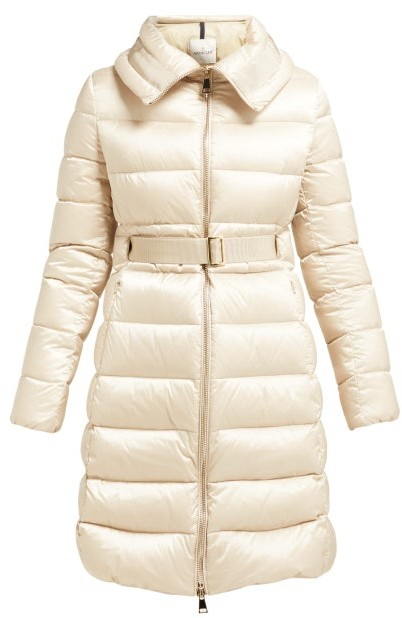 406123290 Bergeronette Quilted Down Coat - Womens - Beige