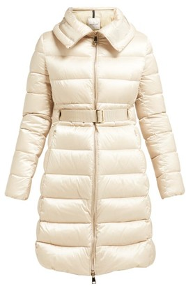 Moncler Bergeronette Quilted Down Coat - Beige