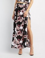 Charlotte Russe Floral Wrapped Maxi Skirt