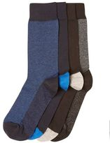 Burton Burton 4 Pack Black Grey And Blue Birdseye Design Socks