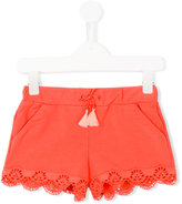 Chloé Kids - embroidered shorts - kids - Cotton/Spandex/Elastane - 4 yrs