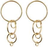 Trina Turk Round Linear Link Dangle Earrings