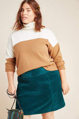 Maeve Slim Corduroy Velvet Mini Skirt