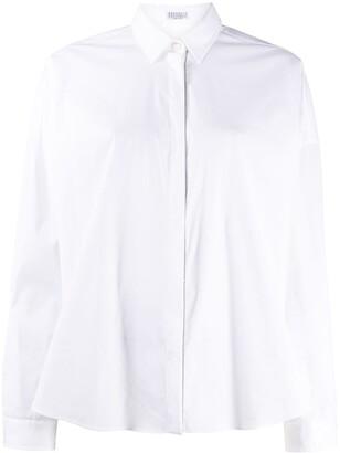 Brunello Cucinelli Oversized Long-Sleeve Shirt