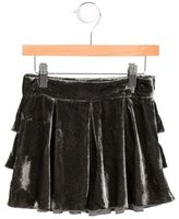 Little Marc Jacobs Girls' Velvet Tiered-Accented Skirt