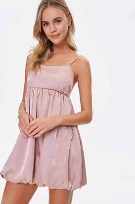 Forever 21 Satin Bubble Mini Dress