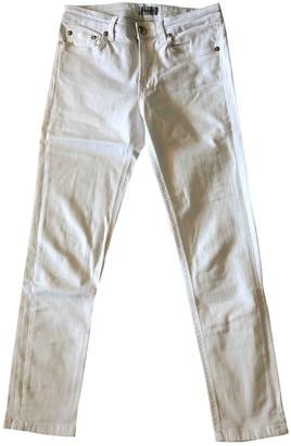 Filippa K White Cotton - elasthane Jeans for Women