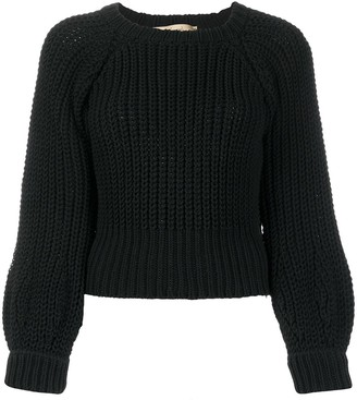 Maison Flaneur Long-Sleeve Fitted Jumper